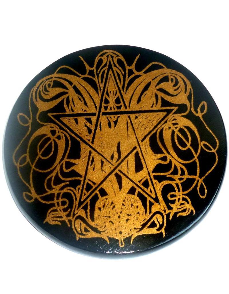 """Fledermaus Altarpentakel """"Gothic Bat"""" mit Pentagramm"""