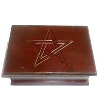 thumb-Tarot Kästchen mit Pentagramm-2