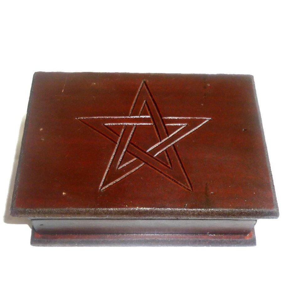 Tarot Kästchen mit Pentagramm-2