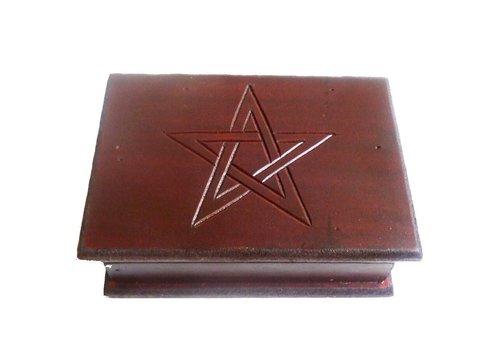 Tarot Kästchen, Tarot Box mit Pentagramm ab