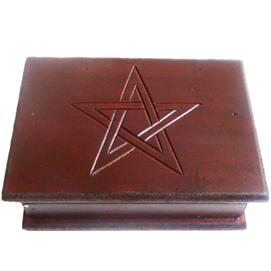 Tarot Kästchen mit Pentagramm-1
