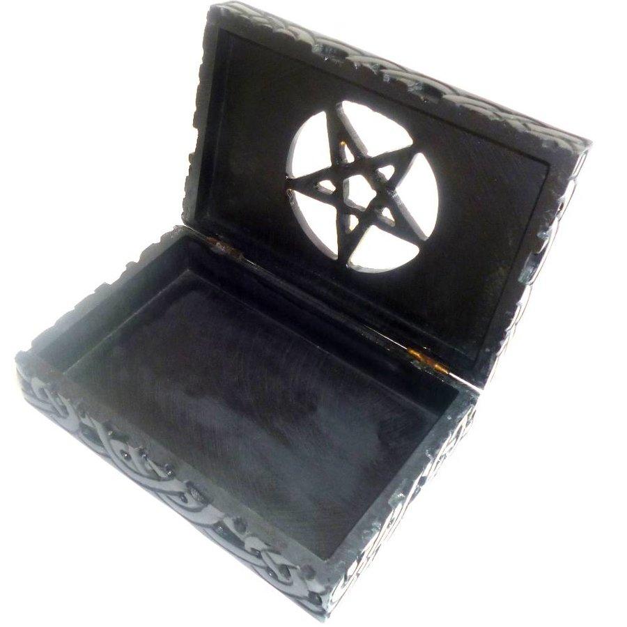 Speckstein Dose mit Pentagramm-4