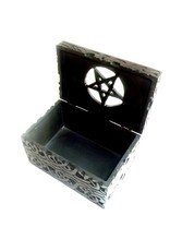 Speckstein Dose mit Pentagramm