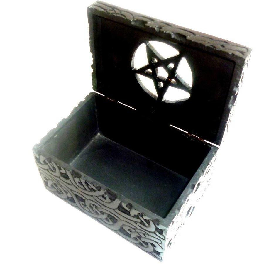 Speckstein Dose mit Pentagramm-2