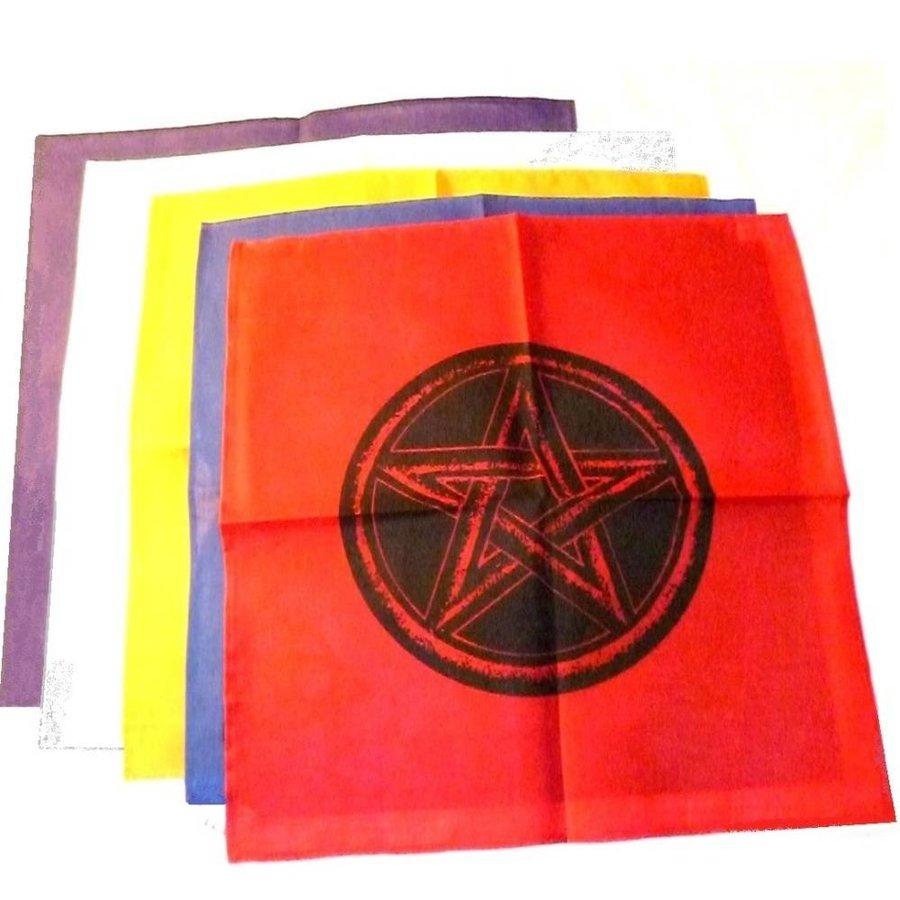 Altartuch mit Pentagramm in verschiedenen Farben-1