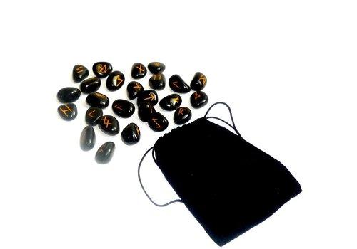 Runen Set aus Onyx