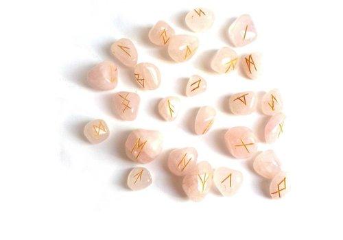 Runensteine Orakel aus Rosenquarz