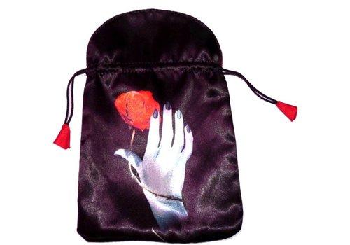 Tarotbeutel - Hand mit Rose