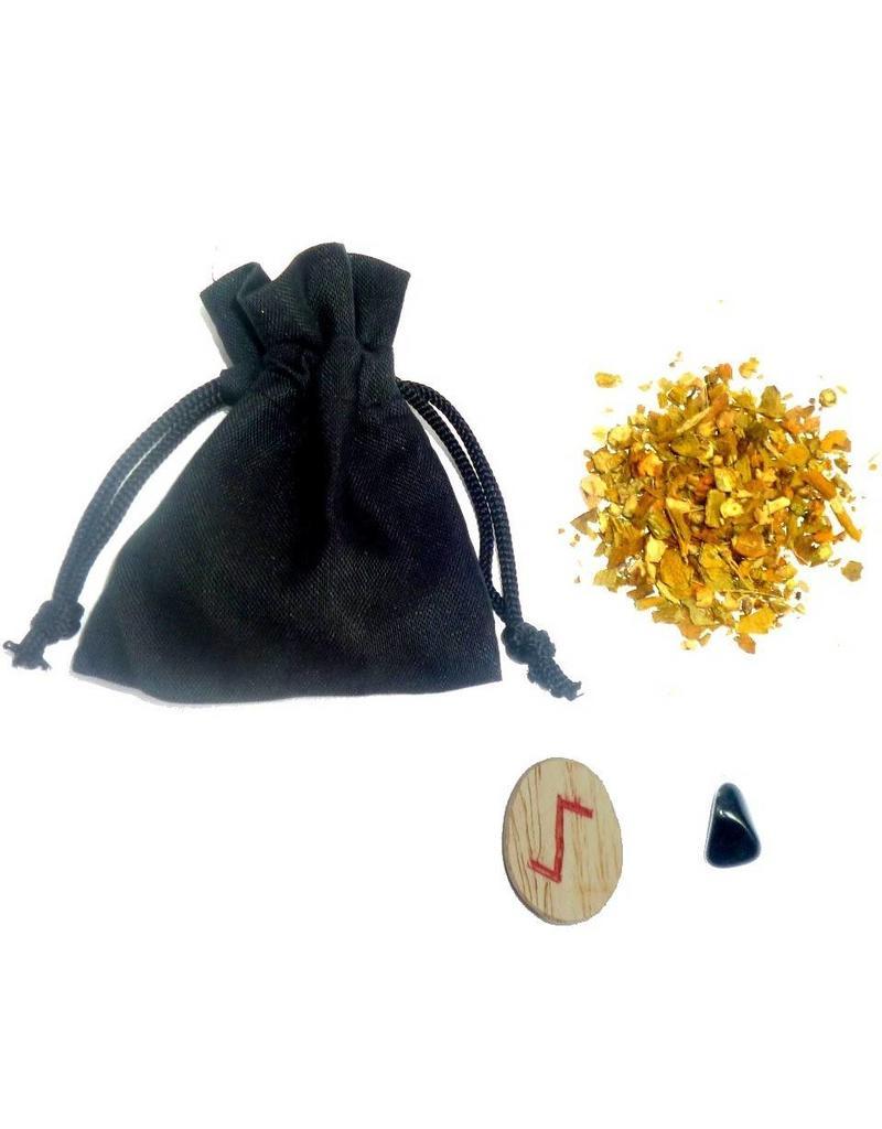 Ritualbedarf Mojo-Bag (Mojo-Bag) mit Anleitung, Bann