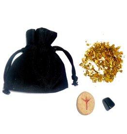 Ritualbedarf Mojo Beutel mit Anleitung, Schutz