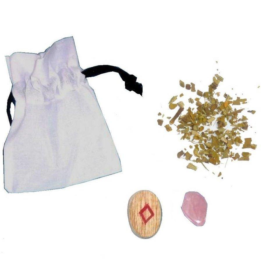 Mojo-Bag (Mojo-Beutel) mit Anleitung, Frieden-1