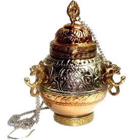 Räuchergefäß mit Ornamenten