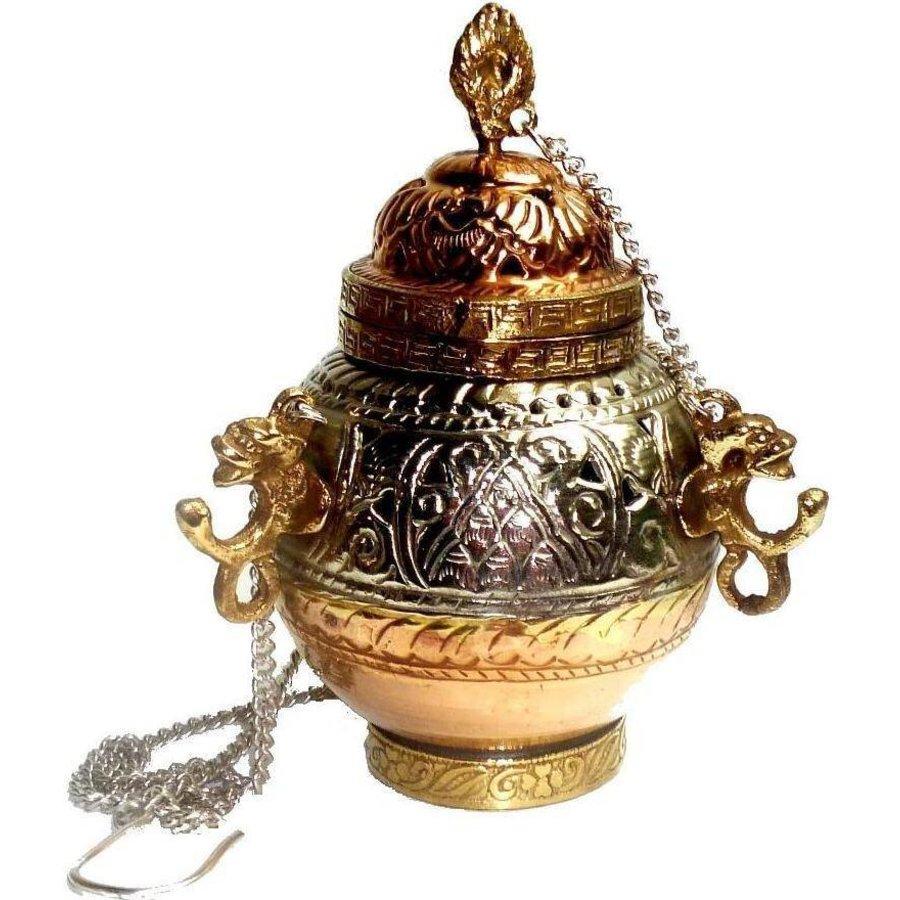 Schwenkräuchergefäß mit Ornamenten-2