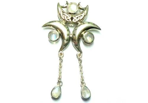 Anhänger Dreifacher Mond, 925-Silber