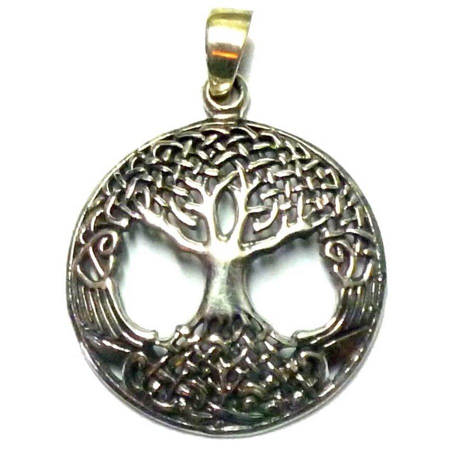 "Baum des Lebens: Anhänger ""Yggdrassil"" Sterling Silber-1"