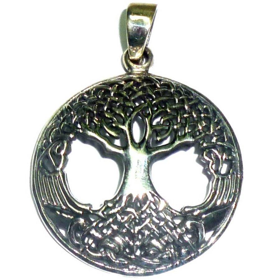 "Baum des Lebens: Anhänger ""Yggdrassil"" Sterling Silber-4"