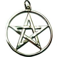 thumb-Pentagramm Amulett Anhänger aus 925 Sterling Silber-2