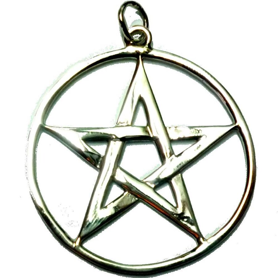 Pentagramm Amulett Anhänger aus 925 Sterling Silber-2
