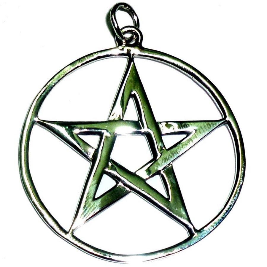 Pentagramm Amulett Anhänger aus 925 Sterling Silber-1