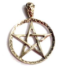 Pentagramme Pentagramm Anhänger Silber 28 mm