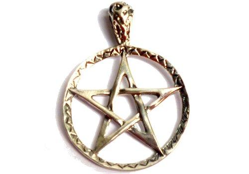 Pentagramm Anhänger Silber 28 mm