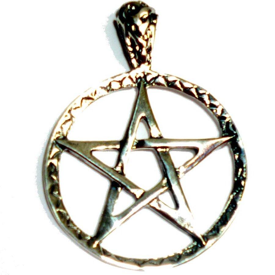 Pentagramm Anhänger, Sterling Silber 28 mm, ca. 5,7 g-2