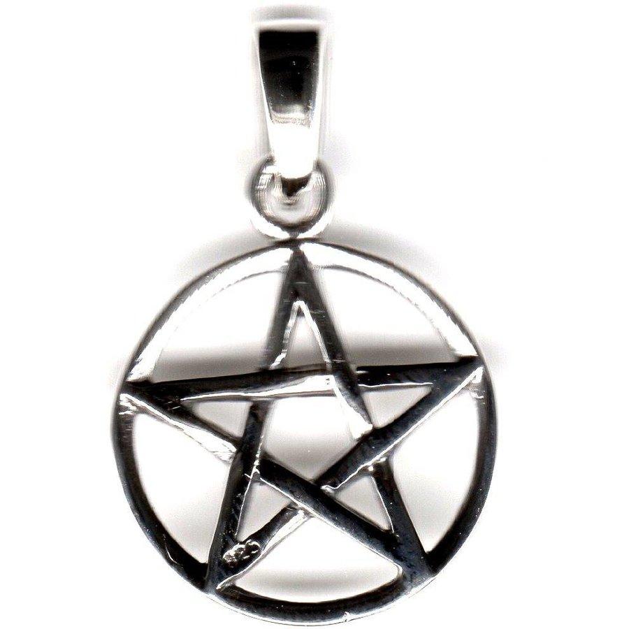 Pentagramm Anhänger, Sterling Silber, ca. 15 mm-2