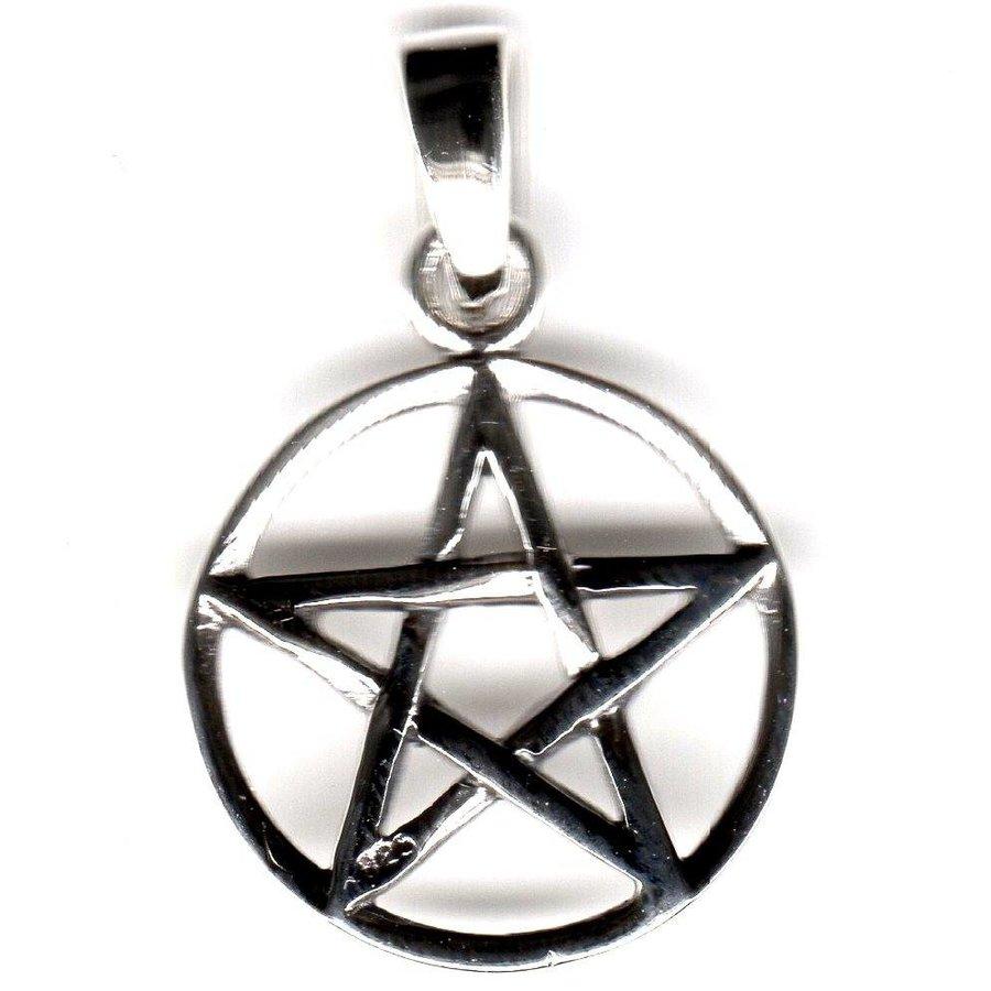 Pentagramm Anhänger, Sterling Silber, ca. 15 mm-1