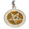 Pentagramme Pentagramm Anhänger aus Bronze, versilbert