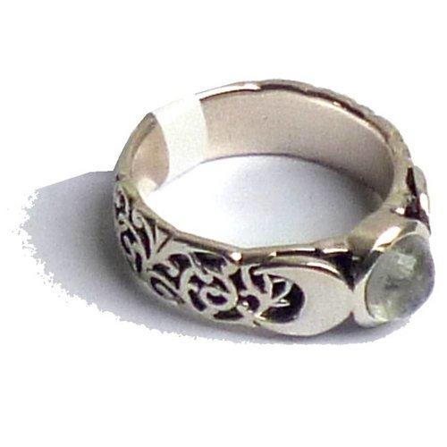 Mondstein Ring Silber Dreifacher Mond