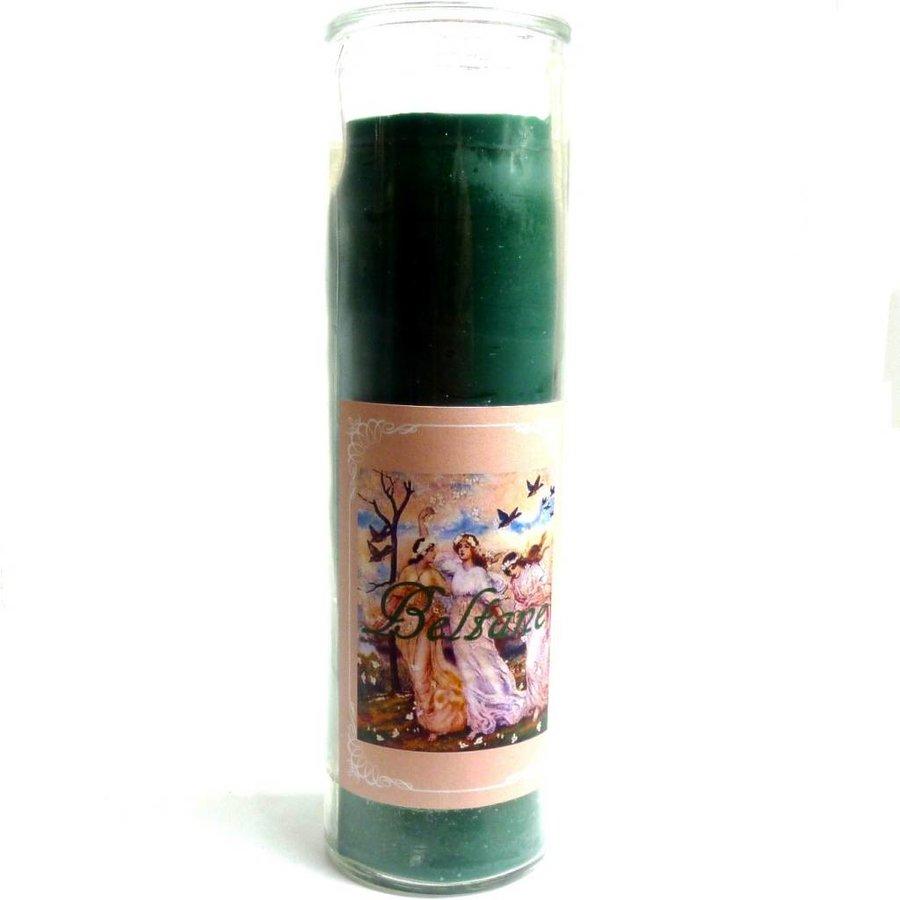 Beltane Jahreskreis Kerze im Glas-3