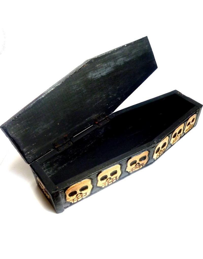 Aufbewahrung Kleiner Sarg aus Holz