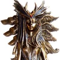thumb-Hexengöttin aus Polyresin, bronziert-2