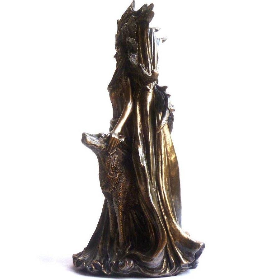 Hexengöttin aus Polyresin, bronziert-4