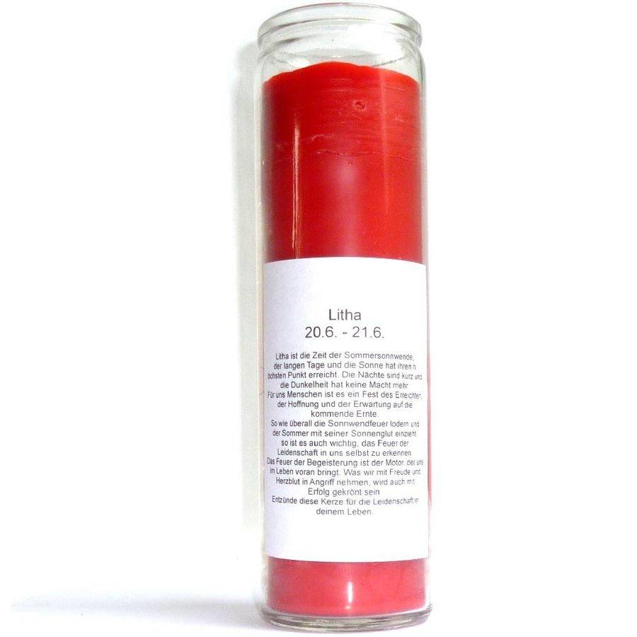 Litha Jahreskreis Kerze im Glas-2