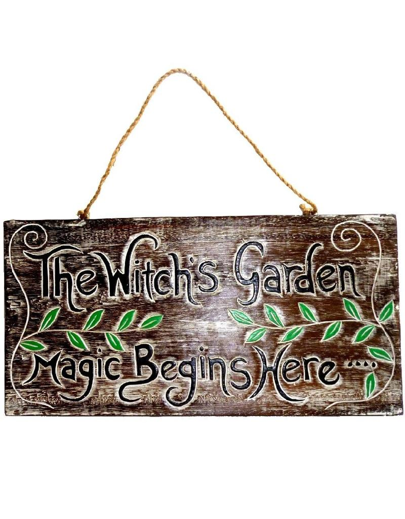 Schild Witches Garden