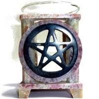 thumb-Duftlampe Pentagramm eckig oder rund-1