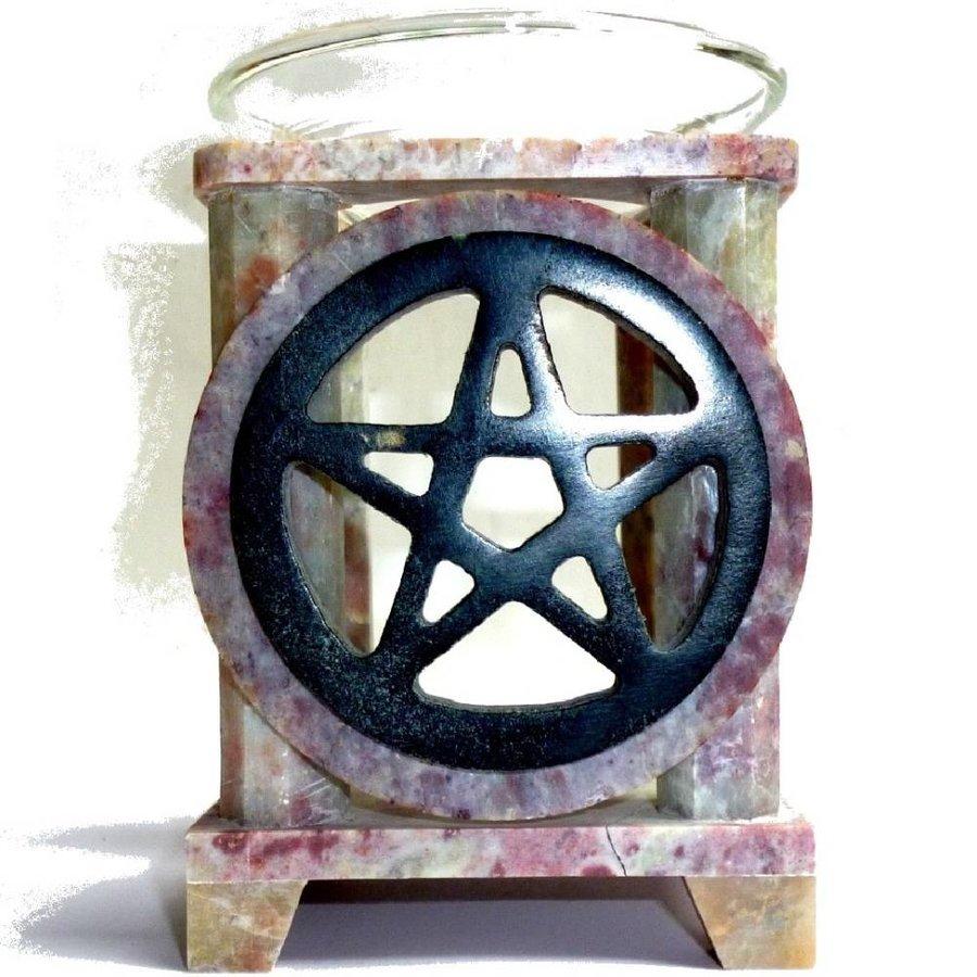Duftlampe Pentagramm eckig oder rund-1