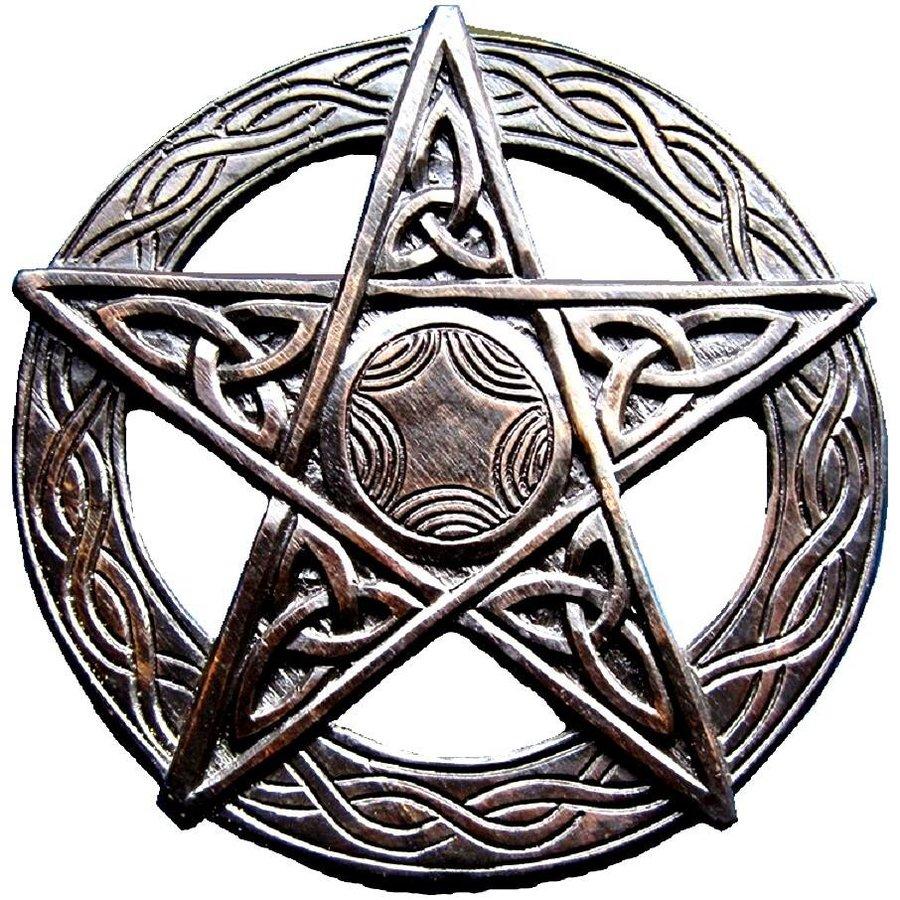 Pentagramm, geschnitzt, groß-1