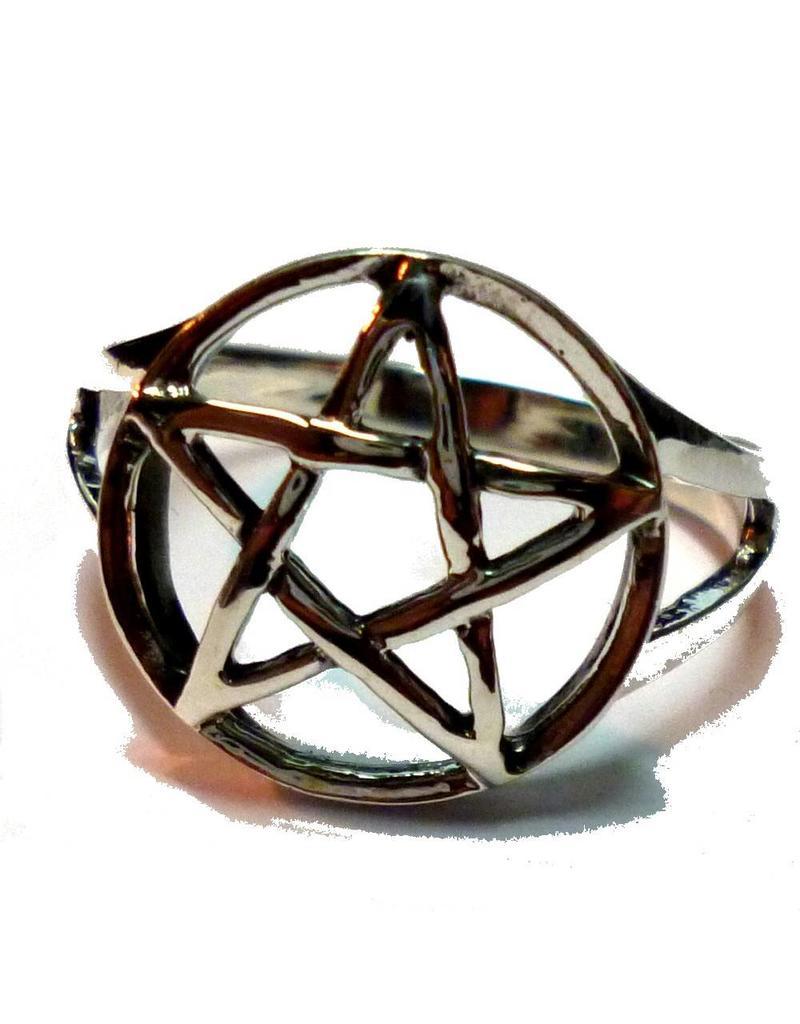 Pentagramm Ring 925-Silber