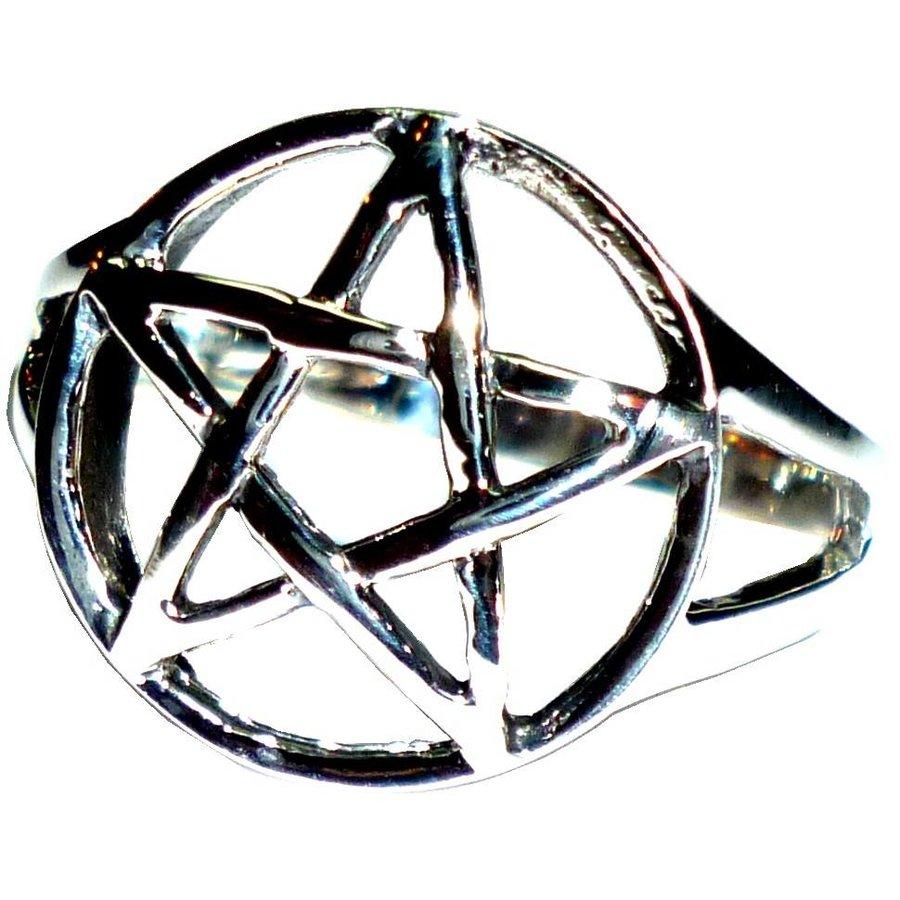 Pentagramm Ring 925-Silber-3
