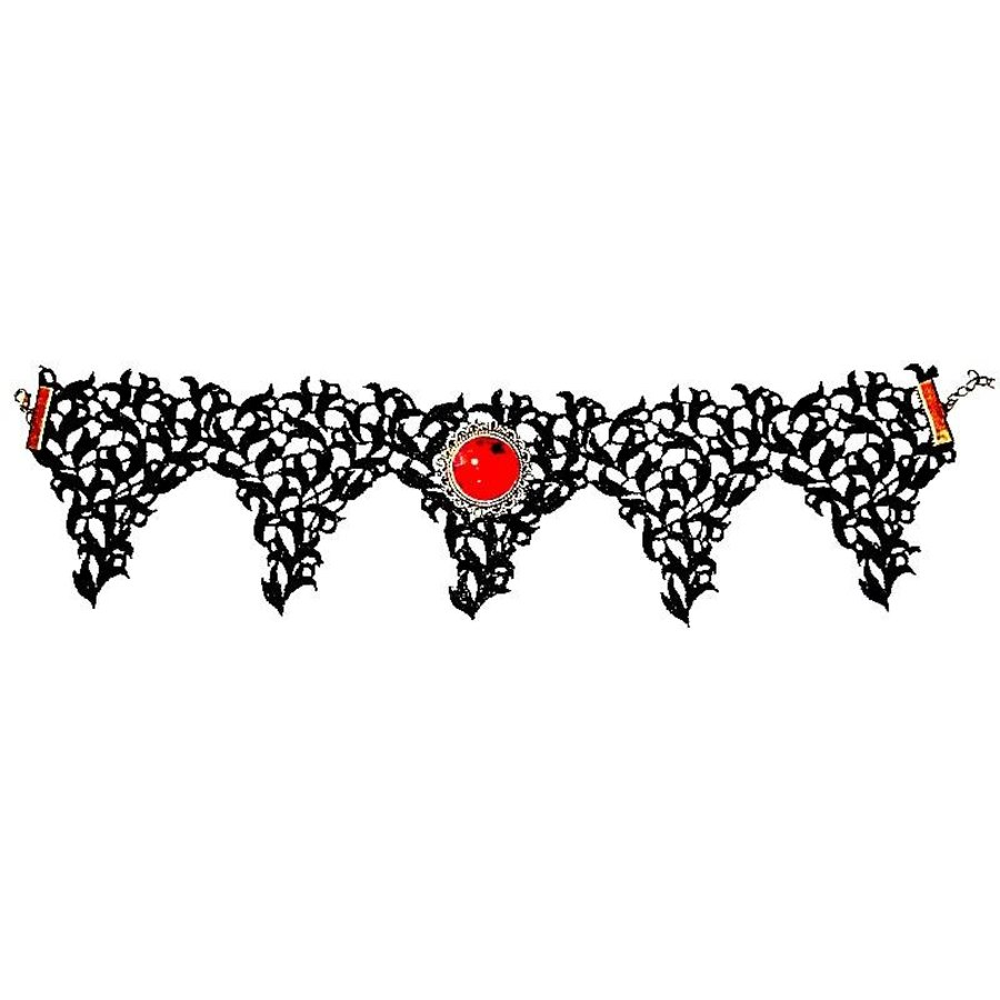 Bat Wings Spitzen Halsband-3