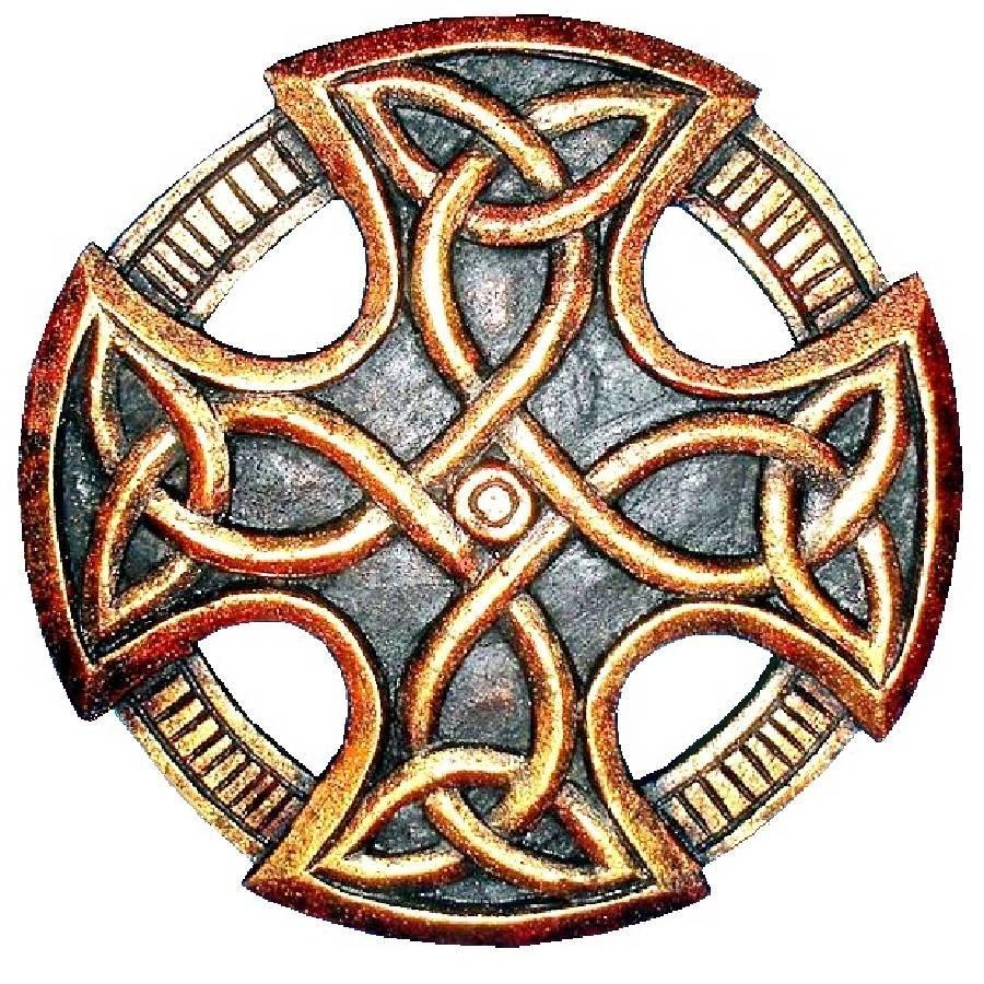 Keltisches Kreuz, geschnitzt, klein-1