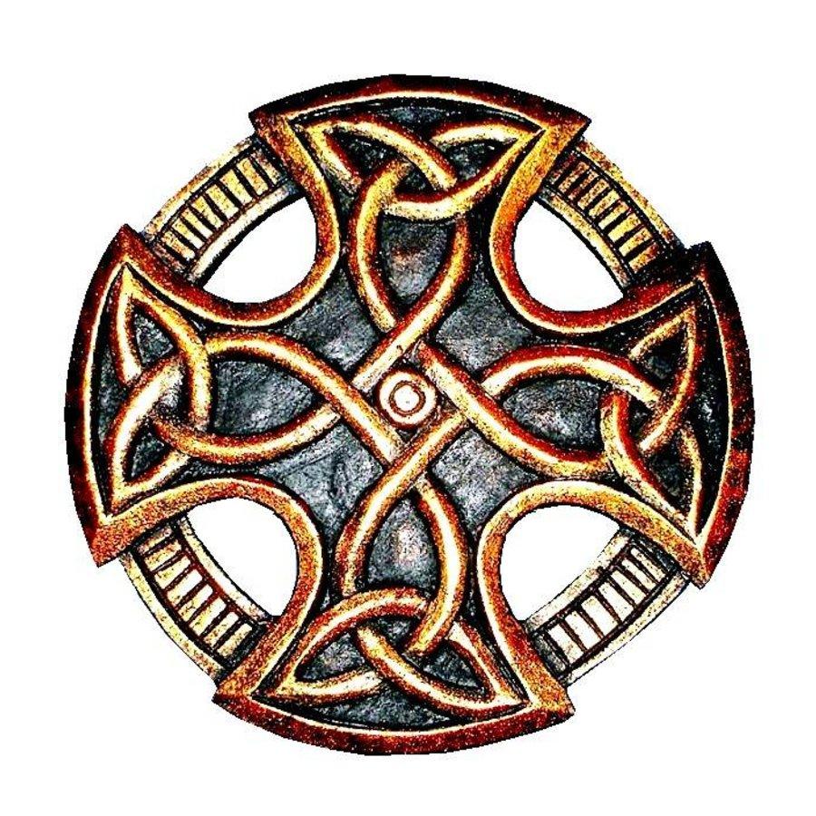 Keltisches Kreuz, geschnitzt, klein-2