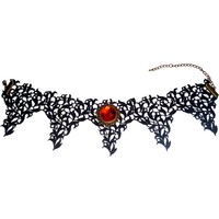 thumb-Bat Wings Spitzen Halsband-2