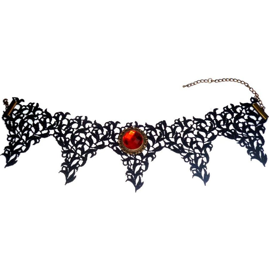 Bat Wings Spitzen Halsband-2