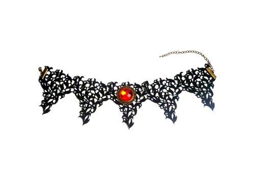 Bat Wings Spitzen Halsband
