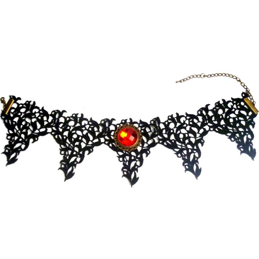 Bat Wings Spitzen Halsband-1