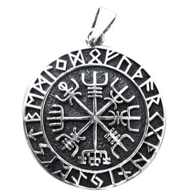 Aegishjalmur im Runenkreis 925 Silber