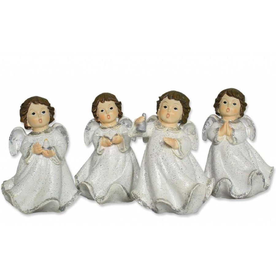 Engel stehend mit Symbolen-2
